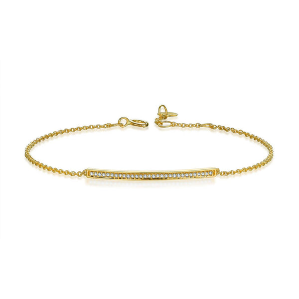 18k Solid Gold Diamond Bar Bracelet - Melbourne, Australia