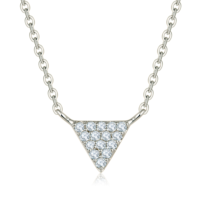 18k Solid Gold Triangle Diamond Necklace - Melbourne, Australia