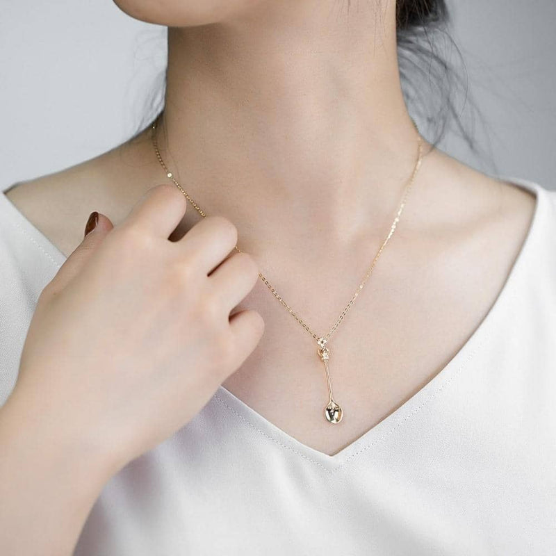 Buy Spoon Necklace | 18k Solid Gold Lucky Spoon Pendant Necklace - Melbourne, Australia