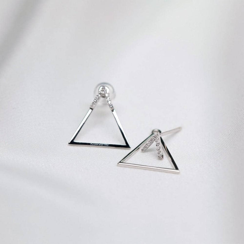 Triangle Diamond Earrings Set in 18k Solid Gold - Melbourne, Australia