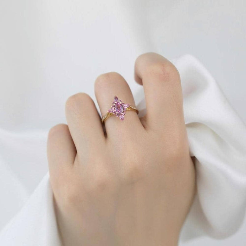 18k Solid Gold Antique Pink Sapphire Rings - Melbourne, Australia
