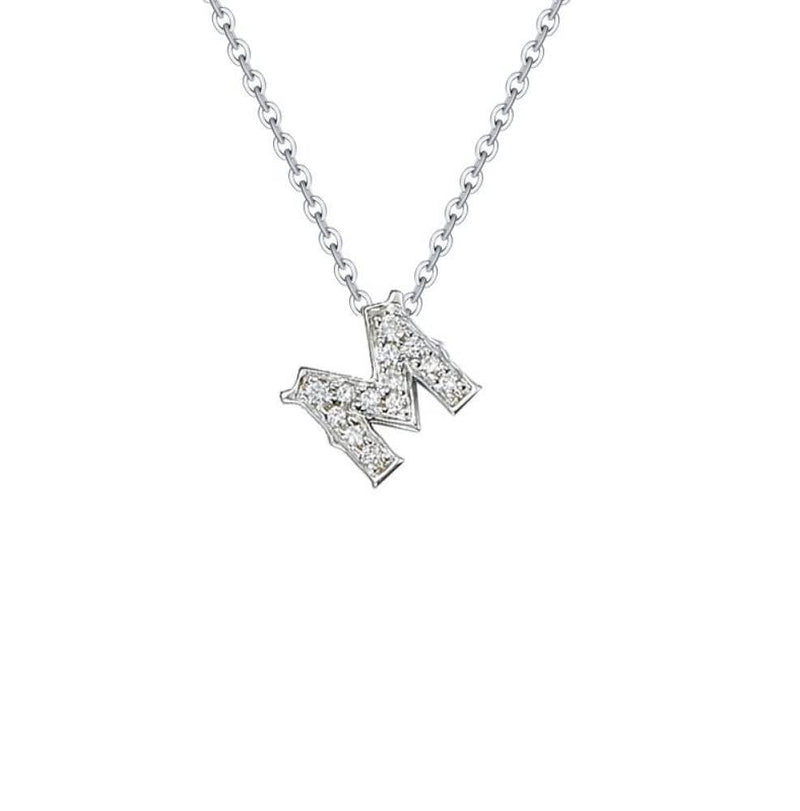 18k White Gold Alphabet Diamond Necklace - Melbourne, Australia