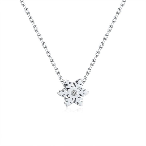 White Gold Necklace Melbourne | 18k White Gold Alphabet Diamond Necklace - Australia