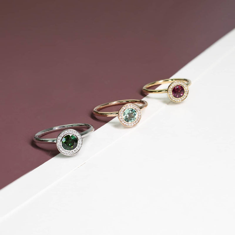 18K SOLID GOLD TOURMALINE ENGAGEMENT RING - Melbourne, Australia