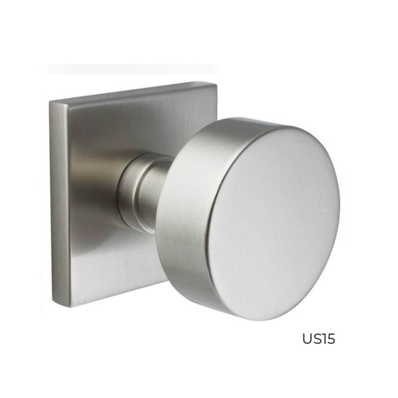 Buy Emtek Round Knob with Square Rosette - OrchardLock.com