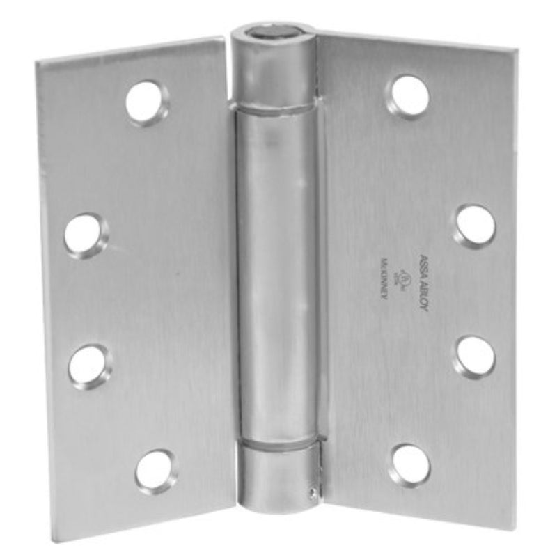 "McKinney 1502 Full Mortise Single Acting 4-1/2"" x 4-1/2"" Spring Hinge - HardwareCapitol"