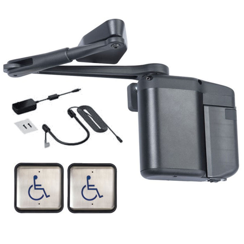 Buy Norton ADAEZ PRO Door Operator with ADA1015P Hardwire Kit and Two Square Style Push Buttons, Black Cover - OrchardLock.com