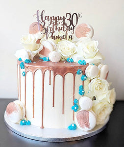 Happy Birthday Cake Topper with Age and Name