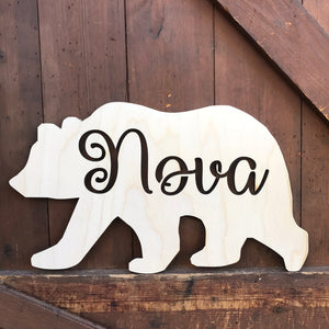 Personalised Bear Wall Sign