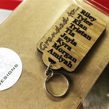 Load image into Gallery viewer, Personalised Keyring for Nan/Grandad