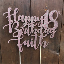 Load image into Gallery viewer, Custom Text Cake Topper