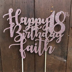 Custom Text Cake Topper