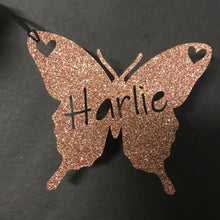 Load image into Gallery viewer, Butterfly Shaped Personalised Gift Tags