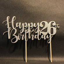 Load image into Gallery viewer, Happy Birthday with Age Cake Topper