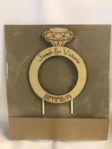 Engagement Cake Topper/ Keepsake