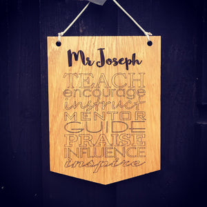Hanging Plaque Teacher Gift