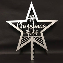 Load image into Gallery viewer, Personalised Christmas Tree Star