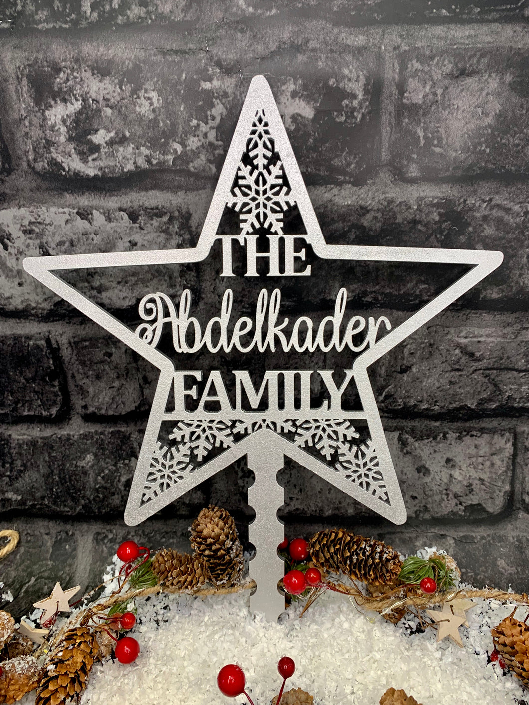Personalised Christmas Tree Topper