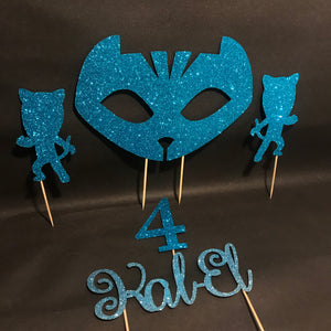 PJ Mask inspired Cake Topper Set