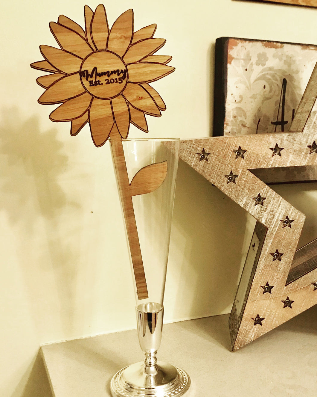 Personalised Wooden Flower