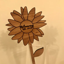 Load image into Gallery viewer, Personalised Wooden Flower