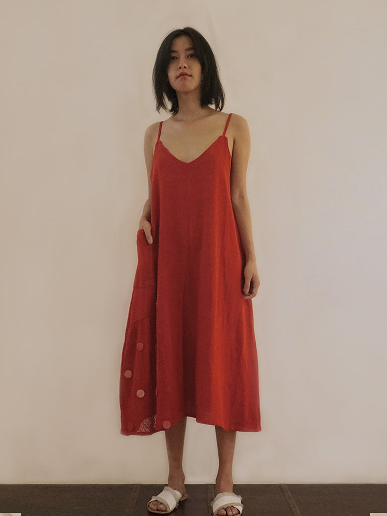 Scarlet slip dress
