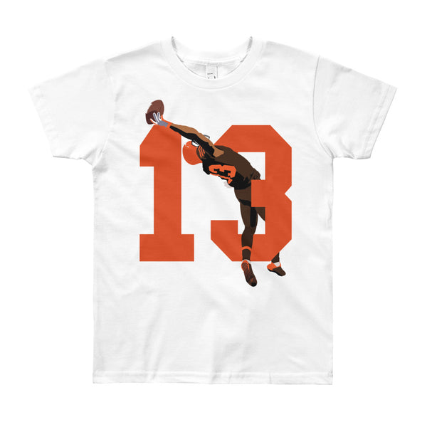 "Odell Beckham Jr. ""13"" Browns Youth Short Sleeve T-Shirt"