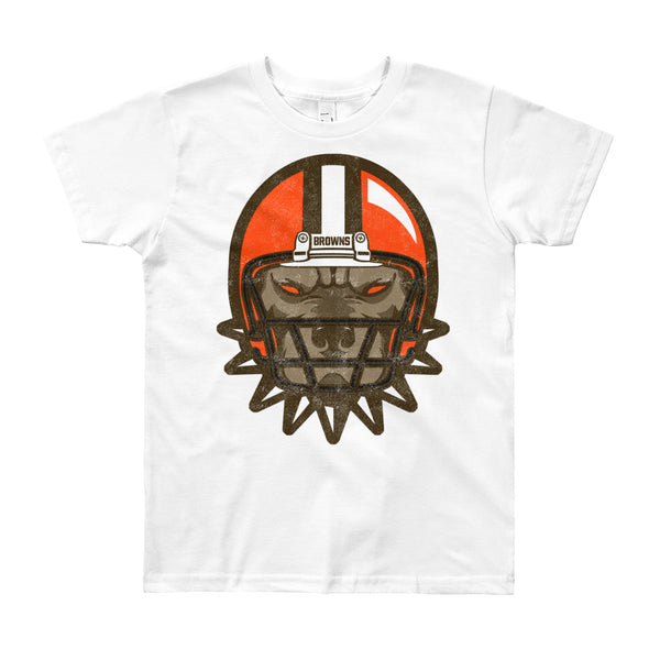 Browns Dawg Helmet Youth Short Sleeve T-Shirt