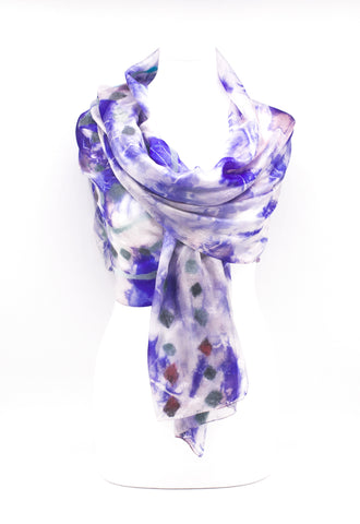 "UNIQUE "" ACIA "" EVENING  SILK SCARF"