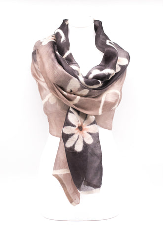 "UNIQUE ""AMANIA "" EVENING  SILK SCARF"