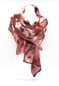 "UNIQUE "" AKRIA "" EVENING  SILK SCARF"