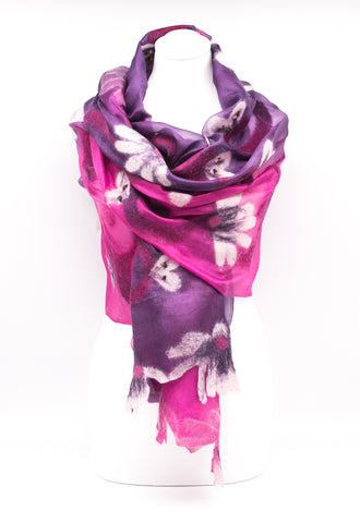 "UNIQUE ""AMELIA "" EVENING SILK SCARF"