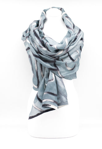 "UNIQUE ""BELLA"" EVENING  SILK SCARF"