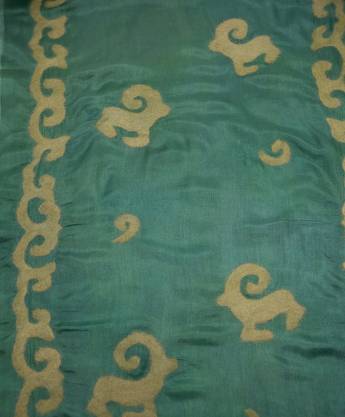 "UNIQUE ""ELLA "" HANDMADE  EVENING  SILK SCARF"