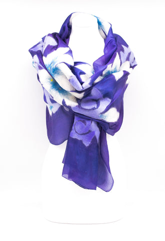 "UNIQUE "" ABIRA "" HANDMADE SILK EVENING SCARF"
