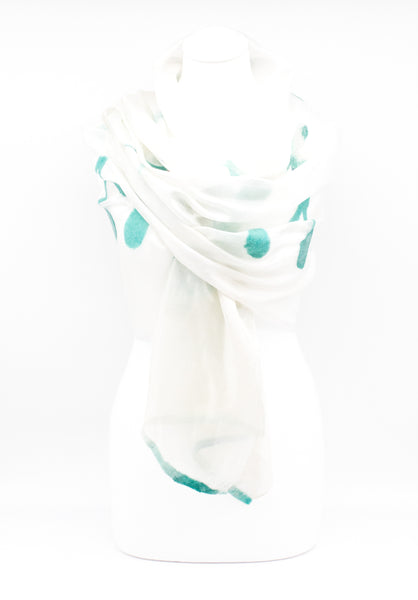 "Unique "" OLESA "" Handmade Daily Silk Scarf"