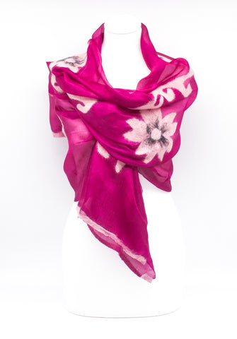 "Unique "" ADELA"" Handmade Daily Silk Scarf"