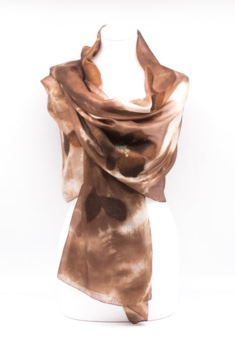 "UNIQUE ""AZORA ""EVENING SILK SCARF"