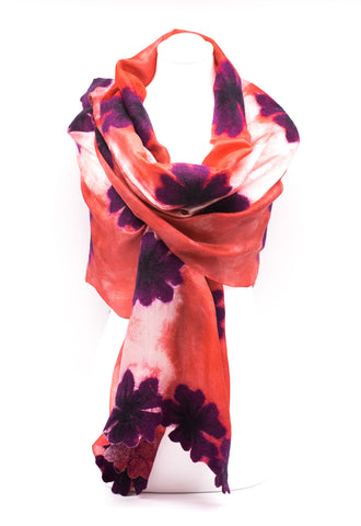 "UNIQUE "" AMALIA "" EVENING  SILK SCARF"