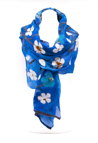 "UNIQUE "" AMAREL""  EVENING  SILK SCARF"