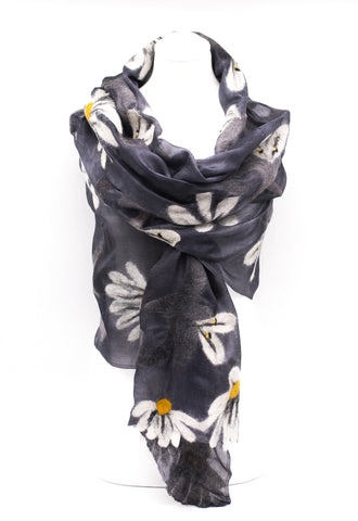 "UNIQUE "" AMIRA "" EVENING  SILK SCARF"