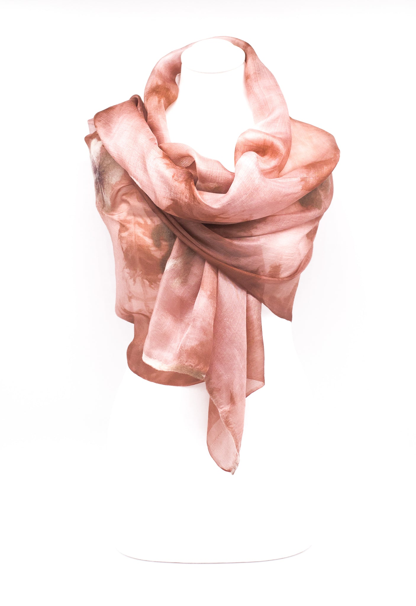 "Unique "" ADEL"" Handmade Daily Silk Scarf"