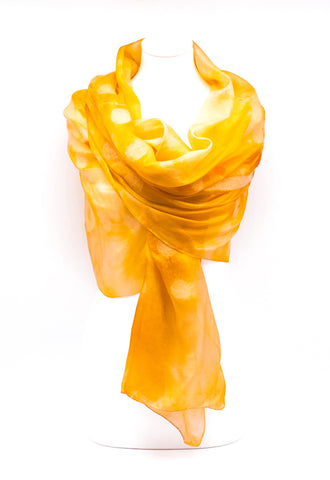 "UNIQUE  ""ADDA "" EVENING  SILK  SCARF"