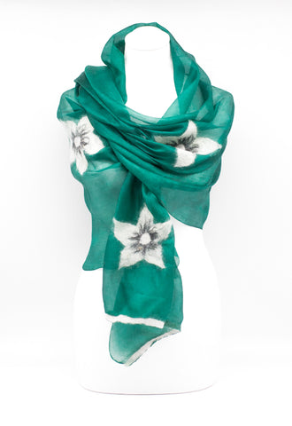 "Unique "" ALETTA"" Handmade Daily Silk Scarf"