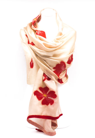 "UNIQIE "" AINUR "" HANDMADE   EVENING SILK  SCARF"