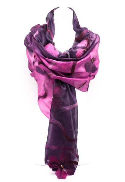 "UNIQUE "" AVERA  EVNING  SILK SCARF"