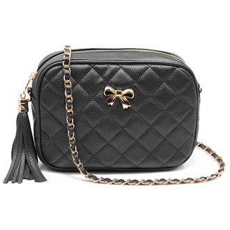 Alla Black Cross Body Bag