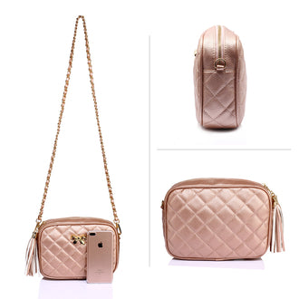 Alla Champagne Cross Body Bag
