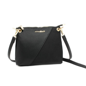 Anna Grace Black Cross Body Bag