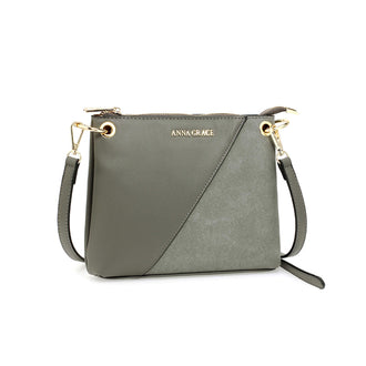 Anna Grace Grey Cross Body Bag